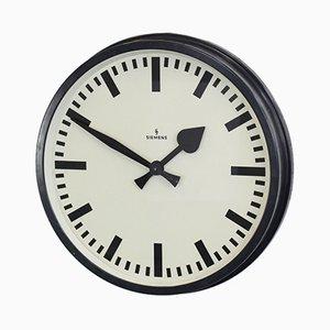 Reloj de fábrica grande de Siemens, años 40