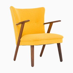 Mid-Century Danish Yellow Cocktail Chair