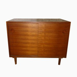 Mid-Century Teak Sideboard with Sliding Doors