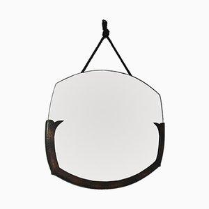 Antiker Arts & Crafts Spiegel mit Rahmen aus Kupfer