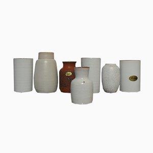 Jarrones holandeses vintage de cerámica de Delfos Zoeterwoude & Unique Keramiek. Juego de 7