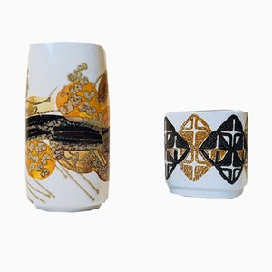 Jarrones daneses de cerámica de Ellen Malmer para Royal Copenhagen, años 70. Juego de 2
