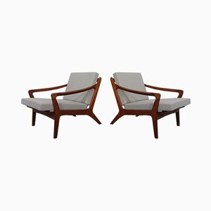 Teak Easy Chairs by Arne Wahl Iversen, 1960s, Set of 2