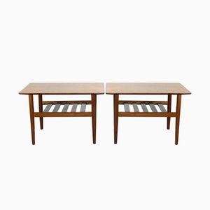 Vintage Scandinavian Coffee Tables, Set of 2