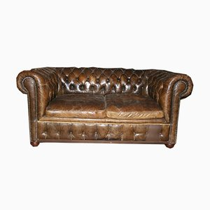 Leather Chesterfield Sofa, 1960s