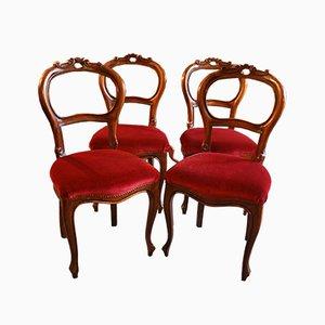 Sillas de comedor, década de 1850. Juego de 4