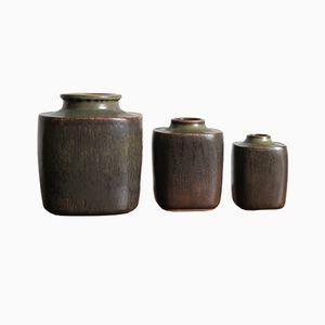 Vases Vintage Scandinaves par Valdemar Petersen pour Bing & Grøndahl, Set de 3