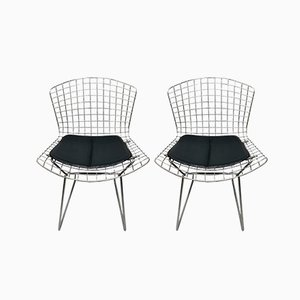Chrome Steel Wire 420C Chairs by Harry Bertoia, 1960s, Set of 2