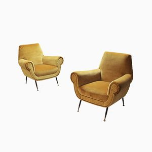 Easy Chairs by Gigi Radice for Minotti, 1960s, Set of 2