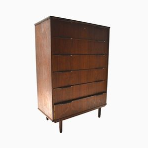 Large Danish Teak Chest of Drawers, 1960s