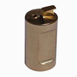 Lighter in Solid Brass by Pierre Forssell for Skultuna, 1960s