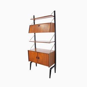 Libreria modulare Mid-Century di Louis van Teeffelen per WéBé