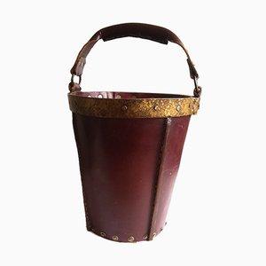 Spanischer Mid-Century Eimer aus Leder