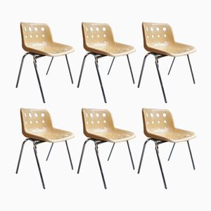 Polo Stacking Dining Chairs by Robin Day for Hille, 1970s, Set of 6