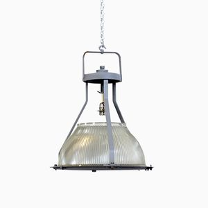Large Factory Pendant from Holophane, 1950s