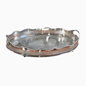 Mid-Century Silvered Metal Tray