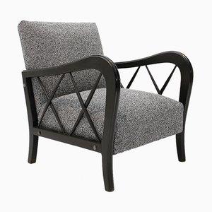 Italienischer Grauer Stuhl, 1940er