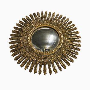 Espejo dorado en forma de sol, años 60