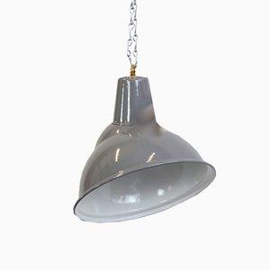 Lampada parabolica industriale grigia di Benjamin, anni '50