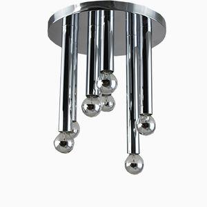 Chrome Ceiling Lamp by Gaetano Sciolari for Boulanger, 1970s