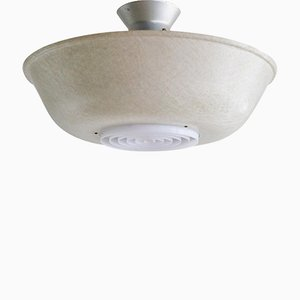 Large Vintage Fiberglass Ceiling Lamp by Louis Kalff for Philips