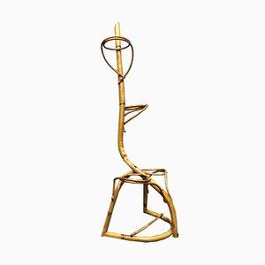 Macetero Mid-Century de bambú