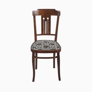Art Nouveau Bentwood Dining Chair with Upholstery by Josef Hoffmann