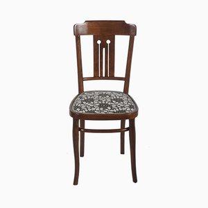 Chaise de Salle à Manger Art Nouveau en Bois Courbé et Tissu par Josef Hoffmann