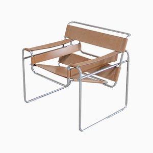 Vintage B3 Wassily Chair in Karamell-Leder von Marcel Breuer für Gavina