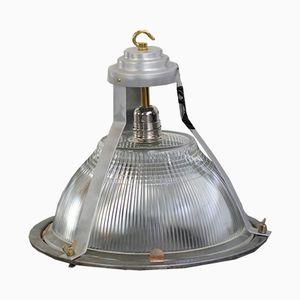 Lámpara colgante industrial de Holophane, años 50