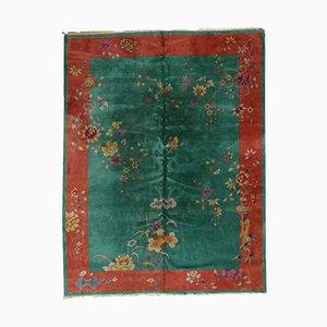 Alfombra china Art Déco vintage hecha a mano, años 20