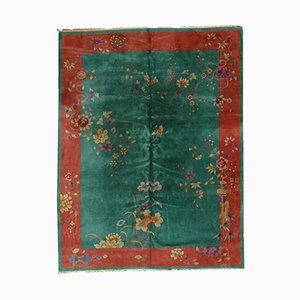 Vintage Handmade Art Deco Chinese Rug, 1920s