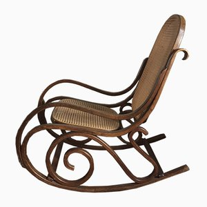 Rocking Chair Mid-Century en Bois Courbé