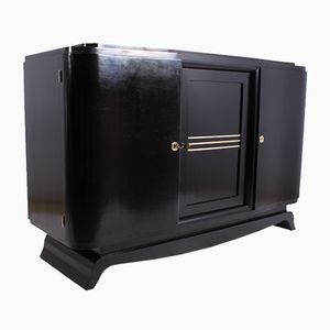 Art Deco Black Lacquered Sideboard, 1920s