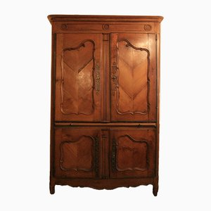 18th Century French Oak & Cherry Cabinet
