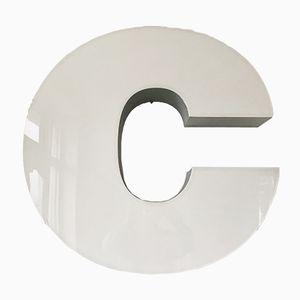 Letra C iluminada vintage