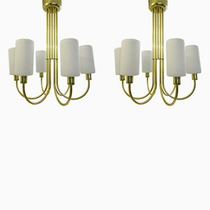 Brass Ceiling Lights, 1960s, Set of 2