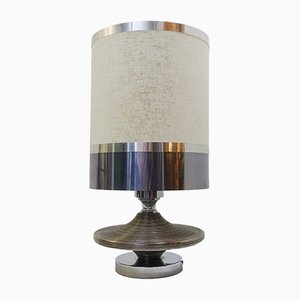 Lámpara de mesa de cromo, años 70