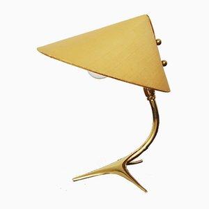 Lámpara de mesa de latón de J.T. Kalkar, años 50
