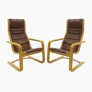 Lamello Lounge Chairs by Yngve Ekström for Swedese, Set of 2