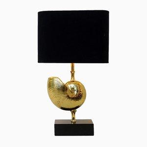 Lámpara de mesa de latón de Maison Charles, años 70