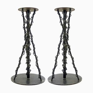 Industrial Pedestals, 1980s, Set of 2