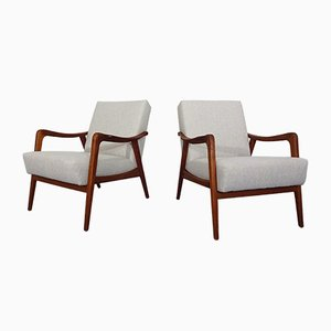 Teak Lounge Chairs, 1960s, Set of 2