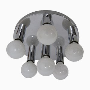 Space Age Chromed Ceiling Light, 1970s