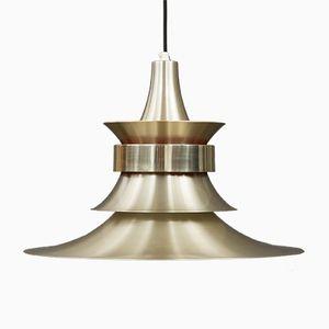 Lámpara vintage dorada cepillada
