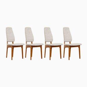 Dining Chairs by Helge Vestergaard Jensen for OD Møbler, 1960s, Set of 4