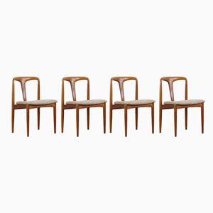 Juliane Esszimmerstühle von Johannes Andersen für Uldum Møbelfabrik, 1970er, 4er Set