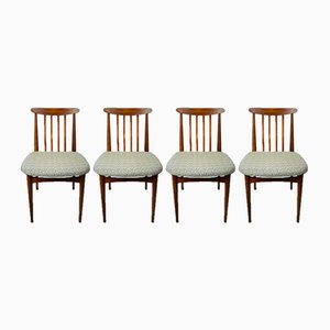 Beechwood Dining Chairs, 1960s, Set of 4