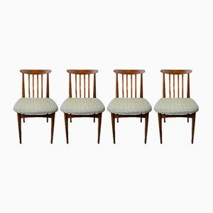 Esszimmerstühle aus Buchenholz, 1960er, 4er Set