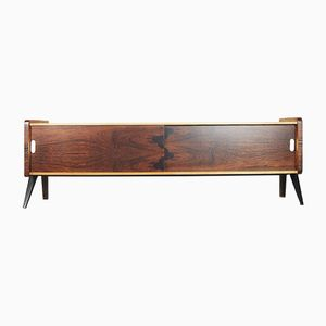 Swedish Rosewood & Burl Birch Sideboard, 1960s